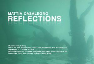 Mattia Casalegno: Reflections, Opening and Artist Talk