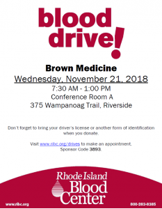 Blood Drive to Benefit RI Blood Center