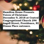 "Hamilton House Presents: Multi Cultural Music Series ""Voices of Christmas"""