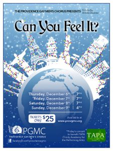 "Providence Gay Men's Chorus Holiday Concert: ""Can You Feel It?"""