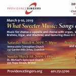 Providence Singers presents What Sweeter Music: Songs of the Spirit