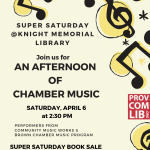 Super Saturday Book Sale and Chamber Music