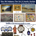 May Estate Antiques, Fine Art & Jewelry Auction at Bruneau and Co.