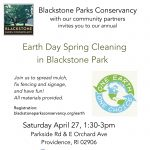 Earth Day Spring Cleaning in Blackstone Park