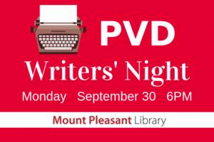 PVD Writers' Night