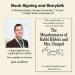 Book Signing & Storytelling by Mark Binder: THE MISADVENTURES OF RABBI KIBBITZ AND MRS. CHAIPUL