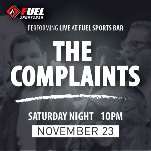 The Complaints LIVE at FUEL Sports Bar