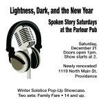 Spoken Story Saturdays at the Parlour Pub - Pop Up Showcase