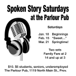 Spoken Story Saturdays at the Parlour Pub - March - Springtime!