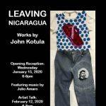 "Artist Talk for ""Leaving Nicaragua"" by John Kotula"