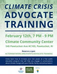 Climate Crisis Advocate Training