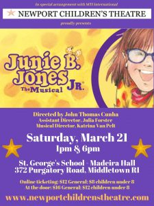 """Junie B. Jones, Jr., The Musical"""