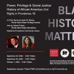 Black History Matters: Compelling Lecture Series Explores the Unfinished Business of Social Justice in Providence