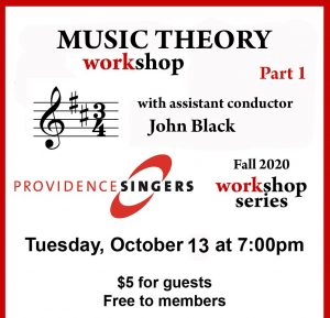 Providence Singers Hosts Online Workshop Series: Music Theory, Part 1