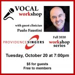 Providence Singers Hosts Vocal Workshop with Paulo Faustini