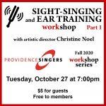 Providence Singers Hosts Skill-building Workshop for Singers