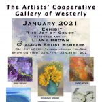 "In January ACGOW asks ""What Color is Joy?"" Featured Artist Diane Brown January 7– 31st"