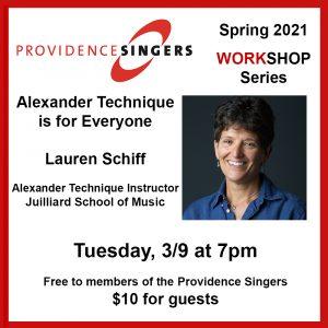 Providence Singers Workshop Series: Alexander Technique with Lauren Schiff