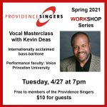 Providence Singers Workshop Series: Vocal Masterclass with Kevin Deas