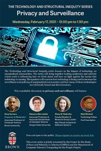 The Technology and Structural Inequity Series: Privacy and Surveillance