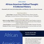 "Book Launch: ""African American Political Thought: A Collected History"""