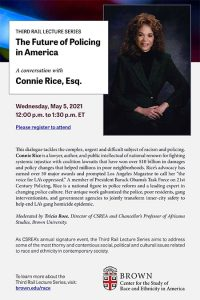 The Future of Policing in America: A Third Rail Conversation with Connie Rice