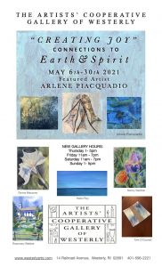"Artists' Cooperative Gallery of Westerly May Show ""Creating Joy"" Connections to Earth & Spirit"