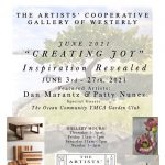 """Artists' Cooperative Gallery of Westerly June's Show Creating Joy - """"Inspiration Revealed"""""""