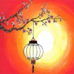 Cherry Blossom Lantern