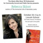 A Conversation with NYT Bestseller Rebecca Skloot