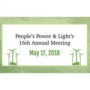 People's Power & Light's 16th Annual Meeting