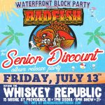 Badfish (Sublime Tribute) + Senior Discount Outdoor Block Party!