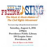 Let Freedom Sing: The Music & Music-makers of the Civil Rights Movement