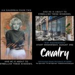 Embellishing of Windows w/ RI Artist Ian Gaudreau