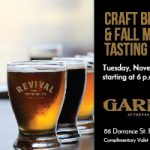 Craft Beer & Fall Menu Tasting at Garde